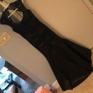 Black xscape mermaid taffeta dress size 12